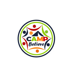 camp believe logo design template vector image