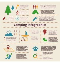 Camping and Tourism Infographic Elements vector image