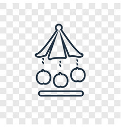 carousel concept linear icon isolated on vector image