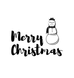 christmas card snowman vector image