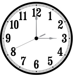 Clock with movable hands vector