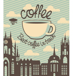 Coffee town vector image