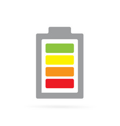 colored battery icon fully charged vector image
