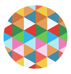 Colored geometric circle vector