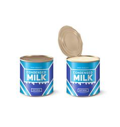 Condensed milk condensed milk can vector