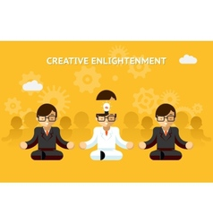 Creative enlightenment Business guru creative vector