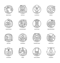 Design and development glyph icons vector