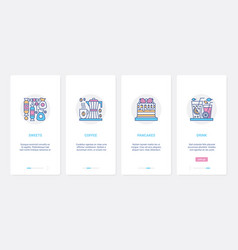 fastfood sweet dessert for coffeehouse menu ux ui vector image