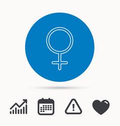 female icon women sex sign vector image