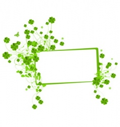 floral banner with clover leaves vector image
