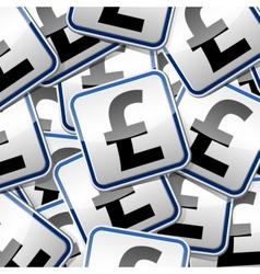 Font pound money sticker symbols vector