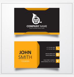French horn icon business card template vector