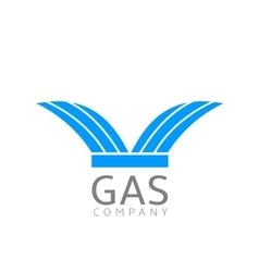 Gas logo sign vector image