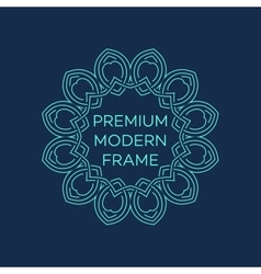 geometric frame in mono line style vector image
