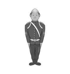 German soldiers in uniform icon vector image