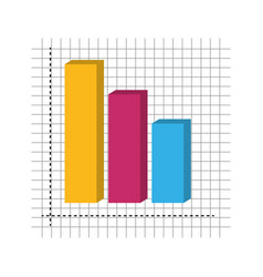graphic stats layout vector image