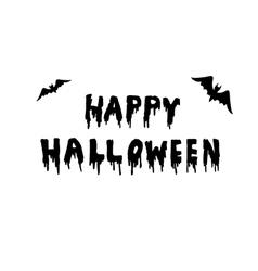 Happy Halloween handwritten vector
