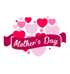 Heart and a ribbon mother day vector