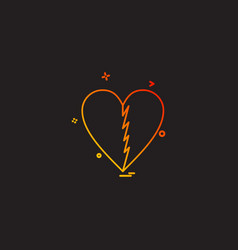 Heart brocken icon design vector