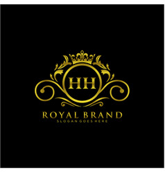 hh letter initial luxurious brand logo template vector image