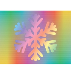 Hologram with snowflake vector