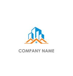 home modern building company logo vector image