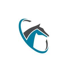 horse farm abstract logo concept icon vector image