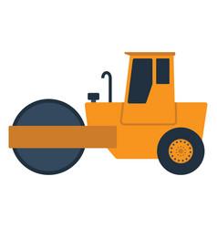 Icon road roller vector
