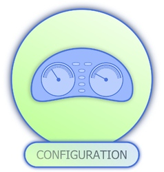 Icons and symbols of car parts - configuration vector