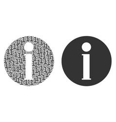 Info mosaic of binary digits vector
