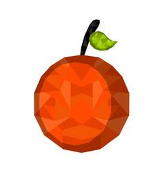 isolated geometric orange low poly vector image