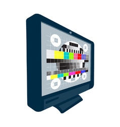 LCD Plasma TV Television Test Pattern vector