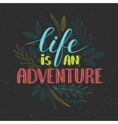 lettering quote vector image