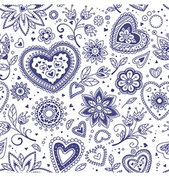 Love hearts seamless pattern 6 vector image