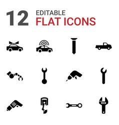 mechanic icons vector image