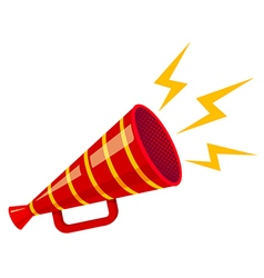 Megaphone strip red isolated vector