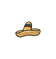 mexican hat for tacos logo designs inspiration vector image
