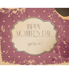 mothers day card background vector image