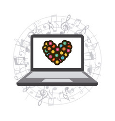Music and technology design vector