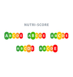 nutrition label facts health score food info vector image