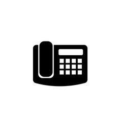 Office fax phone flat icon vector