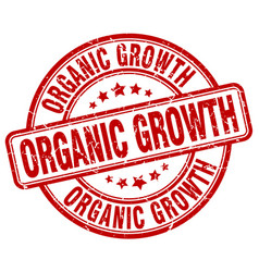 Organic growth red grunge stamp vector