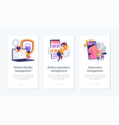 Personal brand building app interface template vector