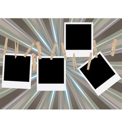 Photo Frames on Rope19 vector image vector image