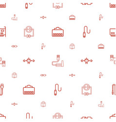 Plug icons pattern seamless white background vector