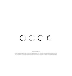 set circular loading or buffering icon sign vector image