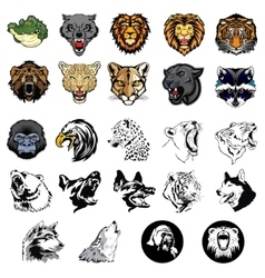 Set of wild animals and dogs vector