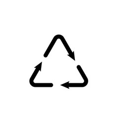 sign waste processing web icon black on white vector image