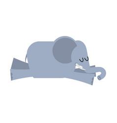 sleeping elephant animal africa is sleeping vector image