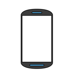smartphone with blank screen icon image vector image